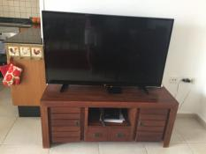 Large TV with English channels
