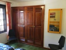 Master bedroom with wardrobe